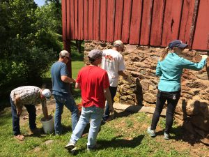 Students in the Lime Mortar Class